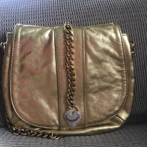 Authentic Juicy Couture Gold Metallic Handbag